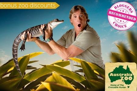 Steve Irwin's Australia Zoo 一天$42.30,两天$62.10