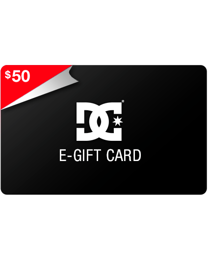 DC SHOES Gift Card $50 for $30 and $100 for $70 (24 Hours Only)