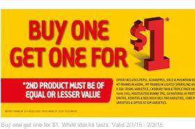 7 Eleven 部分产品Buy 1 get 1 for $1 (有点晕)