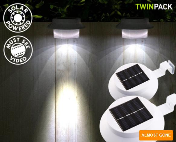 2 x 3-LED 太阳能灯 $19.98