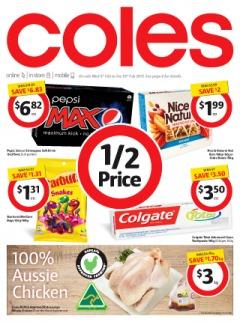 Coles本周(2月4号到2月10号)半价产品信息