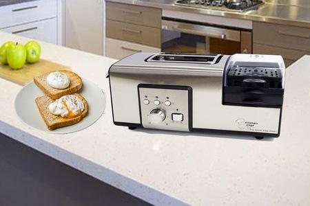 实用多功能早餐机,烤面包机 + 煮蛋煎蛋,原价$199.95,现只需$69