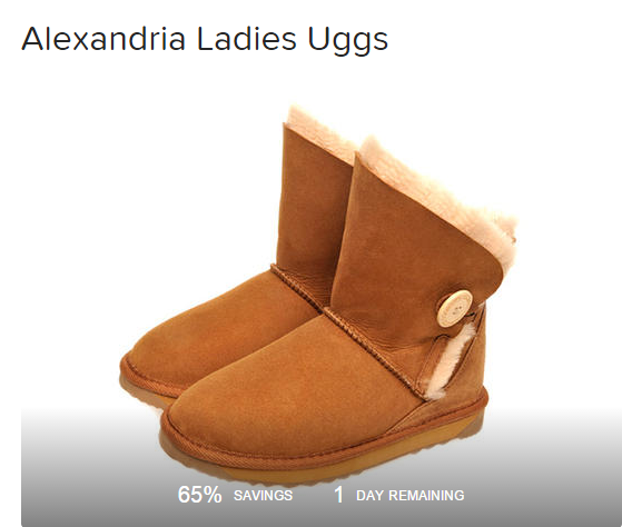 LivingSocial 女款UGG $89起!