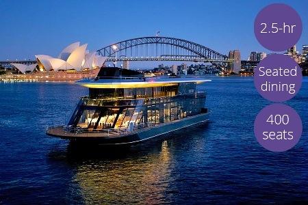 悉尼Vivid 灯光节时,海港游艇游览观光 + 自助餐,每人$79