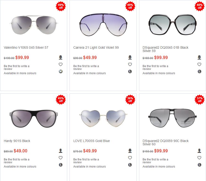 Clearly 特价活动 - 近视眼镜 & 太阳眼镜最高50% OFF!