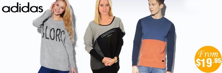 TopBuy Adidas 毛衣特卖,33%OFF!只要$19.95!