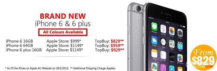 iPhone6 & iPhone6 Plus 特卖会 – 全新iPhone6 Plus 64 GB只要$1099+$29的邮费,比官网省170块!