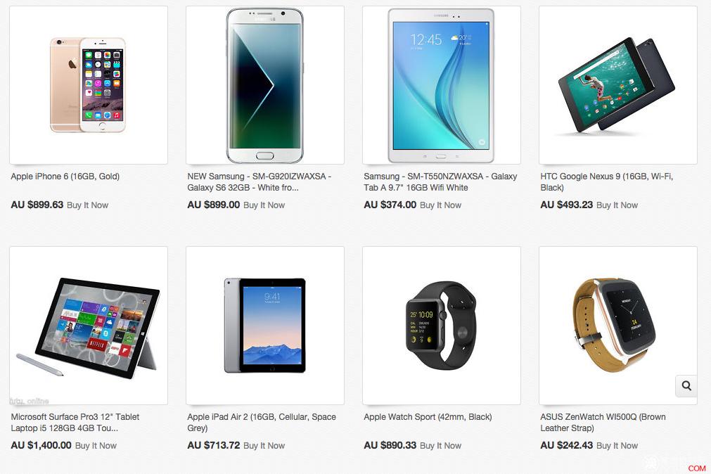 Ebay 电子商品专场,手机、智能手表、电脑、平板,包括iPhone6、Galaxy S6,Apple Watch,iPad等