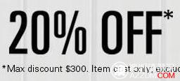 Dick Smith, The Good Guys,Bing Lee 等22个商家的Ebay店,所有商品20%OFF!