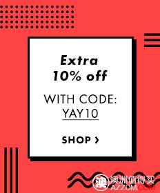 时尚服饰网站 ASOS,特价商品在最高70%OFF的基础上,再减10%!