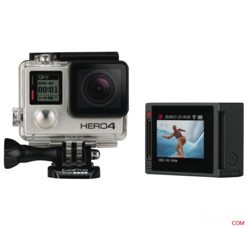 GoPro Hero4  极限运动摄像机 银色 原价$495,使用折扣码后可减20%