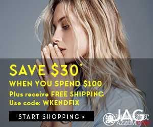JAG 购物满$100,可立减$30!