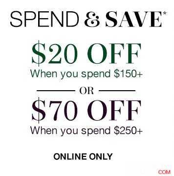 鞋履品牌 Clarks 购物满$150,立减$20,满$250,立减$70!