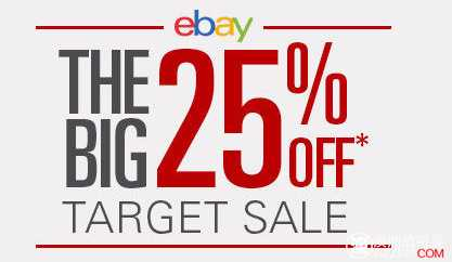 Target Ebay 店 所有商品使用折扣码后,25%OFF!