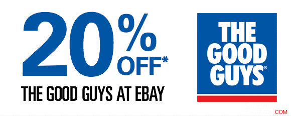 The Good Guys Ebay店,所有商品20%OFF!