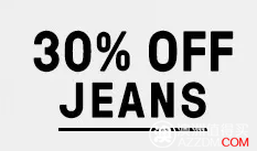 JustJeans 全价牛仔服饰 30%OFF!