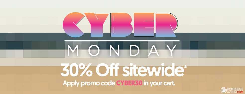 """澳洲时尚网站 Surf Stitch""""剁手星期一""""活动: 全网所有商品 30%OFF!"""