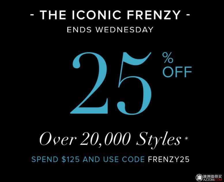 时尚服饰网站 The Iconic 网上特价活动:购物满$125,可减25%!