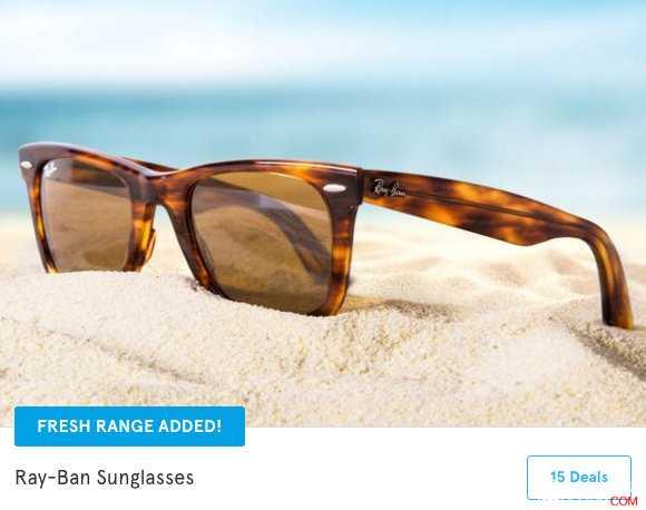 Scoopon,Ray-Ban 太阳镜团购价 仅从$119起!