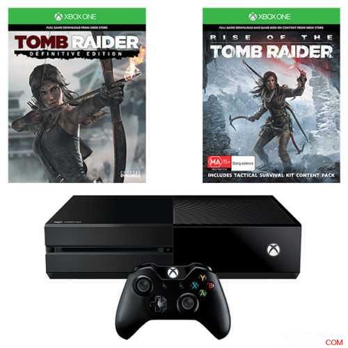 Xbox One 1TB 主机 & 古墓丽影:崛起 套装,原价$489,使用折扣码后可减20%,只要$391!