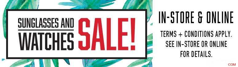 City Beach 手表&墨镜特卖会:多个品牌的手表及墨镜特价出售!