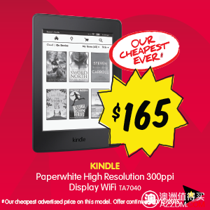 Kindle Paperwhite 高清屏,WiFi版,现特价只要$165
