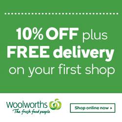 Woolworths Online 购物满0,立减10%!