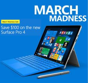微软澳洲官网 Surface Pro 4 减$100!