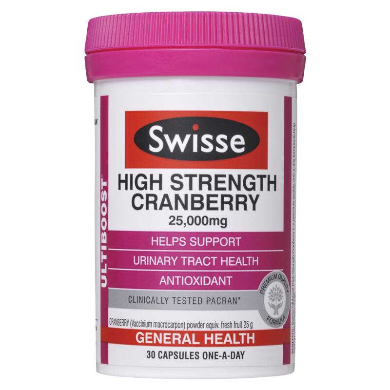 Swisse High Strength cranberry 高浓度蔓越莓精华 30粒