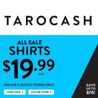 澳洲男装品牌 Tarocash 所有特价衬衫