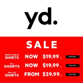 男装品牌 YD 季末夏装大减价