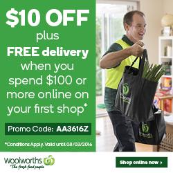 Woolworths Online 新用户购物满$100