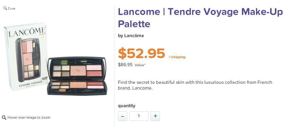 Lancome 兰蔻温柔之旅彩妆盒套装 现价$52.95