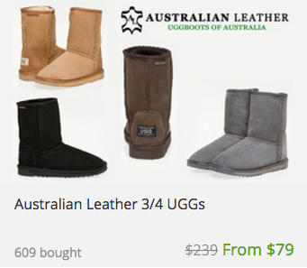 Australian Leather 经典款 UGG 团购价$79!