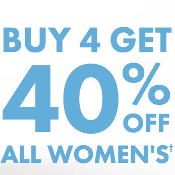 Bonds 所有女式服饰 购满4件 可享六折优惠!