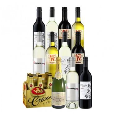 10瓶红酒 + 一瓶香槟 + 6瓶啤酒 套装 eBay团购价只要$95!