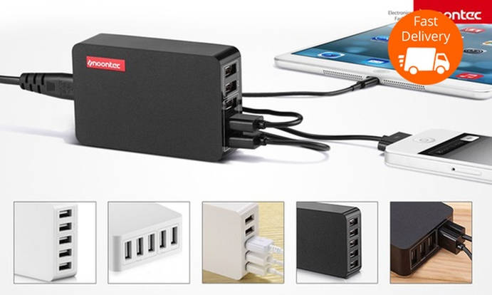 5个 USB口的充电器 原价$69.95 团购价只要$24!