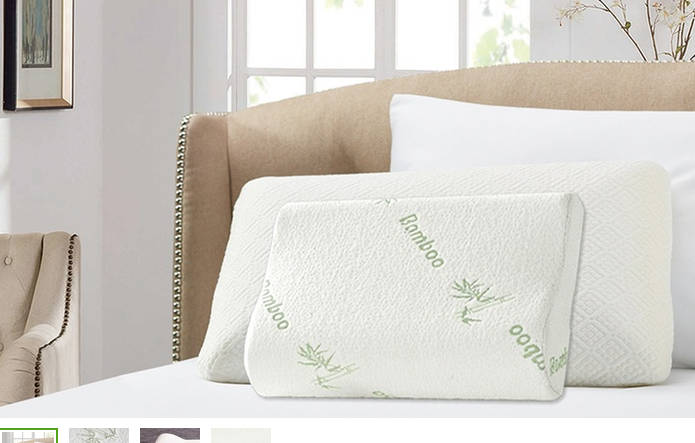 竹纤维海绵记忆枕头 原价$129.95 团购价只要$25!