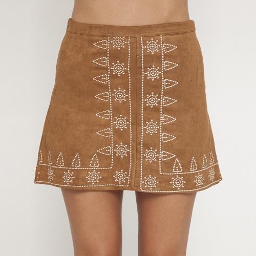 Mooloola 复古印花A字短裙 超值价$49.99