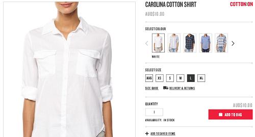 CAROLINA女士纯棉衬衫打底衫 $29.95