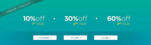 休闲鞋品牌 Crocs 澳洲官网活动:买的越多 减的越多!