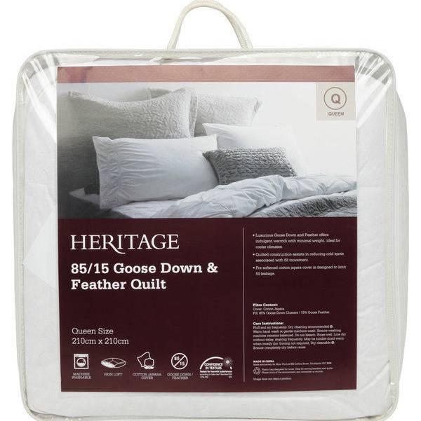 Heritage 85/15 鹅绒/鹅毛被 折后$159.6起!