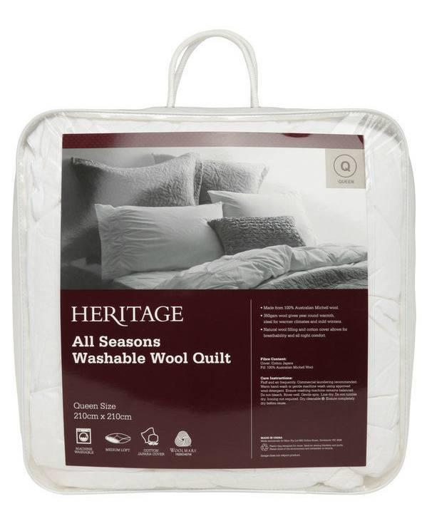 Heritage 可机洗 羊毛被 折后$95.52起!