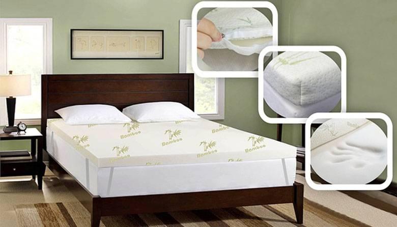 竹制记忆棉 床垫套 团购价折后只要$79.2起!