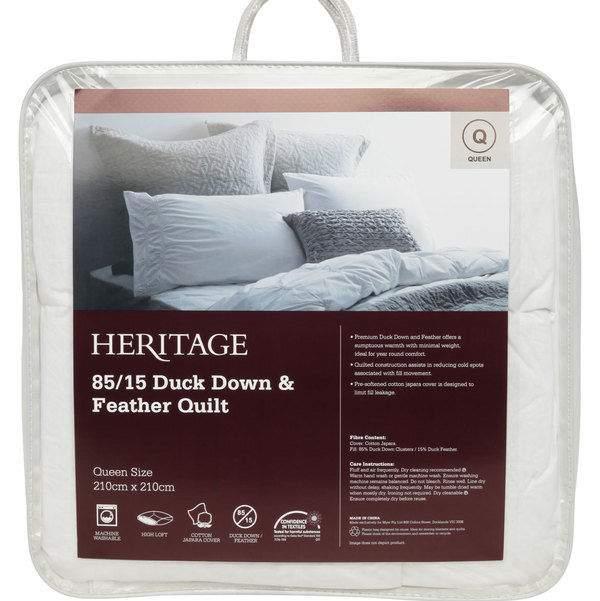 Heritage 85/15 鸭绒/鸭毛被 折后$129.12起!