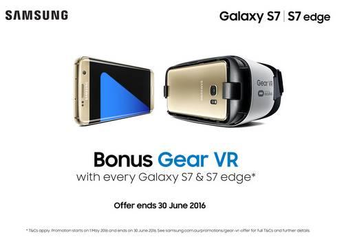 现购买三星 Galaxy S7/S7 edge 可免费得Gear VR 一个!