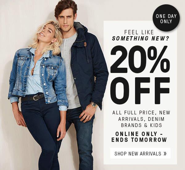 时尚网站 Just Jeans 全价商品 八折优惠!