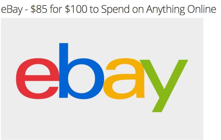 eBay 百元代金券现团购价只要$85!