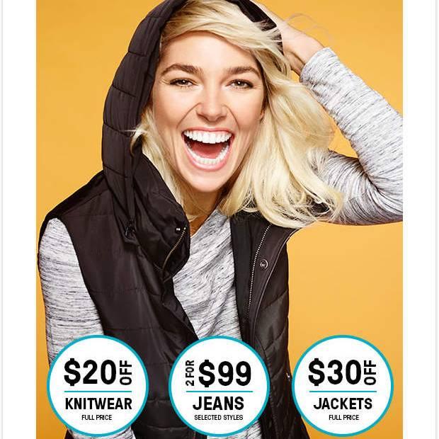 时尚网站 Just Jeans 毛衣减$20!外套减$30!