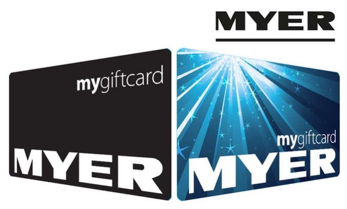 购买 Myer 价值$200 的代金券 送$10!